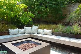 Firepit In Backyard Lush Modern Firepit Area