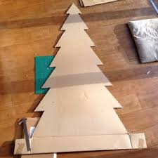 cardboard christmas tree make your own cardboard christmas tree geekdad