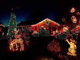 White Christmas Yard Decorations by Christmas Lights Red And White Christmas Lights Decoration