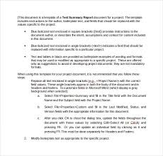 template for summary report summary report template 10 free word pdf documents