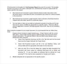 summary report template summary report template 10 free word pdf documents