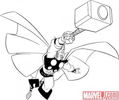 avengers thor coloring pages getcoloringpages com
