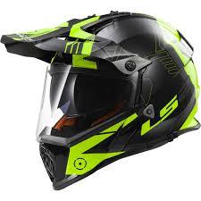 yellow motocross helmets ls2 mx436 pioneer trigger black hi vis yellow motocross helmet
