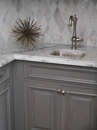 Grey Wash Kitchen Cabinets Gray Wash Butler Pantry Cabinets Transitional Kitchen