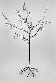 large black metal display candle tree event decor 53in