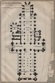 Cathedral Floor Plan Lichfield Cathedral Floor Plan Staffordshire Baedeker 1910