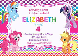 my little pony party invitations my little pony party invitations