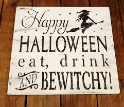 halloween witch sign typography