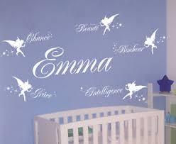 stickers décoration chambre bébé sticker deco chambre bebe fee prenom personnalise ebay