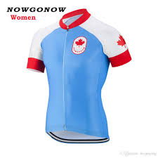 womens cycling jacket women cycling jersey red blue canada national flag team short