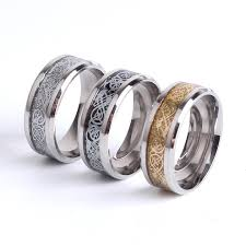 steel male rings images Fine jewelry dragon design stainless steel ring high quality men jpg