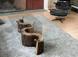 Tree Trunk Table Diy Tree Trunk Coffee Table Les Proomis