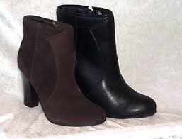 womens size 9 shoe boots liz claiborne womens ankle boots heels lucky solid zipper size 9 5