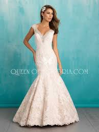 classic mermaid cap sleeves v neck lace backless wedding dress