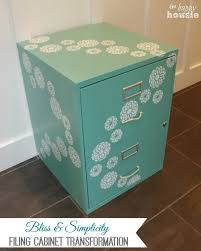 Teal File Cabinet Floral Bliss Filing Cabinet Guest Post Country Chic Paint