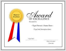 Free Certificate Of Excellence Template Certificate Of Excellence Templates Certificate