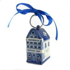 kerst huisje delfts blauw amsterdam shop 5 5 cm