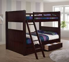 dillon black full over full bunk bed with under bed trundle