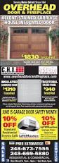 overhead door and fireplace in waterford mi 248 673 7