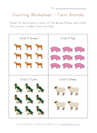 free worksheets animals worksheets for preschool free math