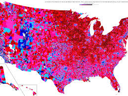 2012 Election Map by 2016 Electoral Map Trump Clinton Vote By Precinct Business Insider