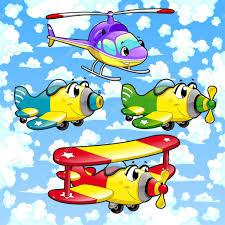 imagenes animadas de aviones dibujos animados de aviones y helicópteros en el cielo vector de
