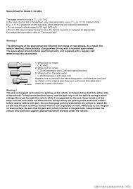 tire size mercedes benz c class 2000 w202 owner u0027s manual