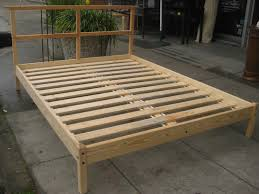 natural light brown unfinished wood japanese bed frames on outdoor