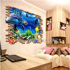 dolphin home decor timelive new brand huge 3d underwater wall stickers world dolphin