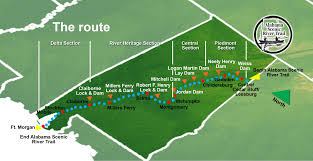 French Creek State Park Map by Trip Planner Alabama Scenic River Trail
