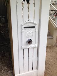 aluminium letterbox suitable for steel picket fence and timber