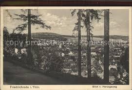 Ak Ansichtskarte Friedrichroda Blick Vom Herzogsweg Friedrichroda Blick Vom Herzogsweg Friedrichroda Nr Dp68724