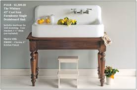 fabulous kitchen sink with legs and farmhouse drainboard sinks