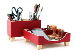 Wood Desk Accessories And Organizers by Desk Organizer Red Desktop Organizer Desktop Set Red Wood Desk