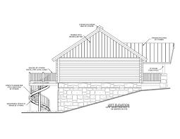 garage under house designs venidami us full image for 20100616 tn log homes 1401 garage under elev east 2200x1700 house plans on