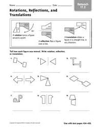 reflection and translation worksheet free worksheets library
