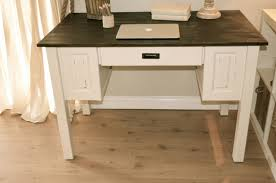 Antique White Desks by Farmhouse Style Computer Desk Distressed Antique White And Brown