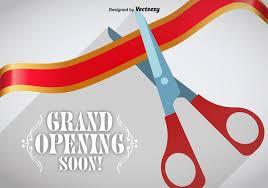 grand opening ribbon grand opening ribbon cutting vector free vector