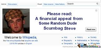 Wikipedia Meme - wikipedia appeal from scumbag steve by friaza meme center