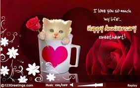 Sweet Wedding Anniversary Wishes For Happy Anniversary Greeting Card For Sweetheart Nicewishes