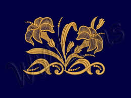 two lilies 2 machine embroidery design