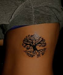 black ink tree of tree on side rib golfian com