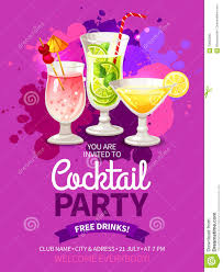 cocktails party flyers stock vector image 70825995