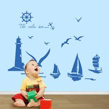 vinyl wall stickers home decor sailboat lighthouse seagull wall vinyl wall stickers home decor sailboat lighthouse seagull wall art decals for kids room decoration stickers