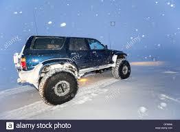 jeep snow super jeep in a snow storm winter landscape vatnajoekull glacier