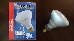 br30 flood light bulbs sunbeam 65watt br30 incandescent flood light bulb youtube