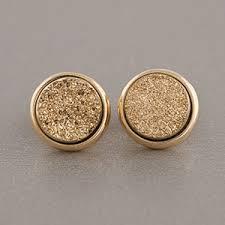 druzy stud earrings marcia gold druzy stud earrings polyvore