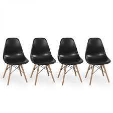 2 pc black molded side dining chairs modern century dsw style more views