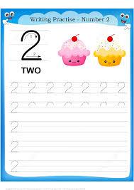 Number 2 Tracing Worksheet Number 2 Handwriting Practice Worksheet Free Printable Puzzle Games