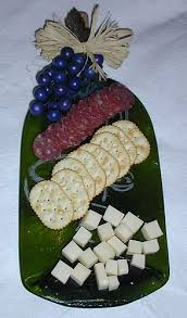 melted wine bottle platter melted wine bottles cheeseboards spoon rests snack dishes